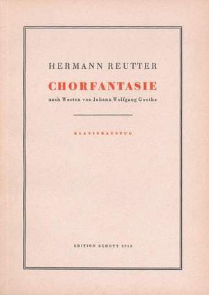 Reutter, H: Chorfantasie op. 52