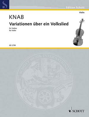 Knab, A: Variationen über ein Volkslied