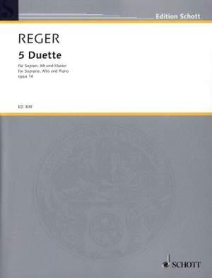 Reger, M: 5 Duets op. 14