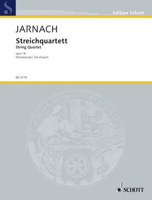 Jarnach, P: String quartet op. 16