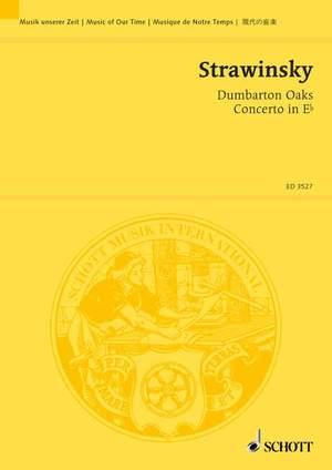 Stravinsky, I: Concerto in E flat Dumbarton Oaks Product Image