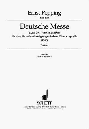 Pepping, E: Deutsche Messe