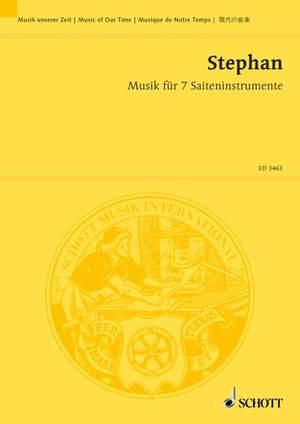 Stephan, R: Musik für 7 Saiteninstrumente