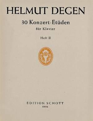Degen, H: 30 Concert studies Band 2
