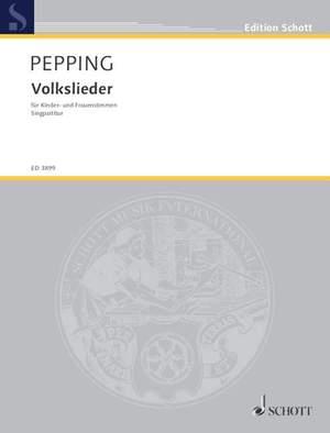 Pepping, E: Volkslieder