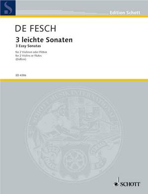Fesch, W d: Three Easy Sonatas