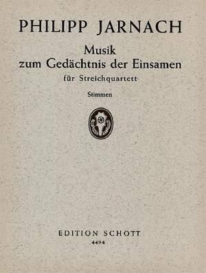 Jarnach, P: Musik zum Gedächtnis der Einsamen