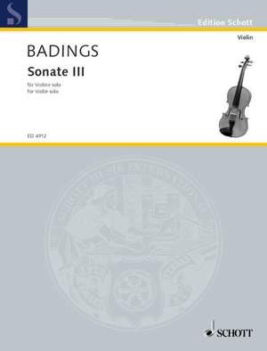 Badings, H: Sonata III