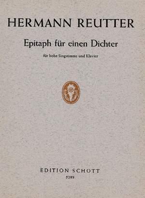 Reutter, H: Epitaph für einen Dichter