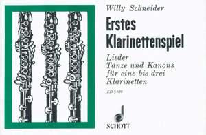 Schneider, W: First Clarinet Pieces Product Image