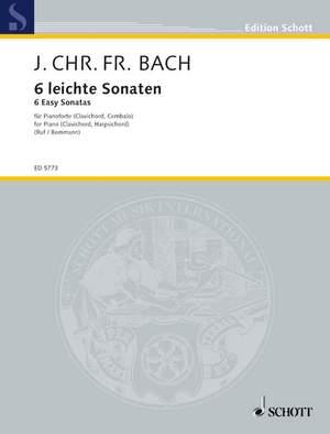 Bach, J C F: Six easy Sonatas