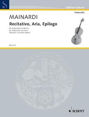 Mainardi, E: Recitativo, Aria, Epilogo