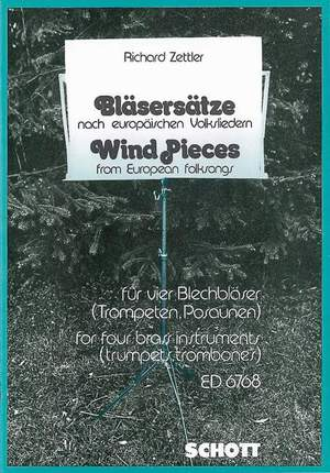 Zettler, R: Wind Pieces from European folksongs Product Image