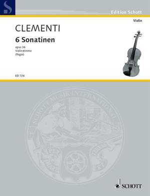 Clementi, M: 6 Sonatinas op. 36