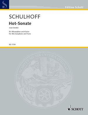 Schulhoff, E: Hot-Sonata