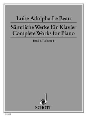 Le Beau, L A: Complete Works for Piano Band 1 Product Image