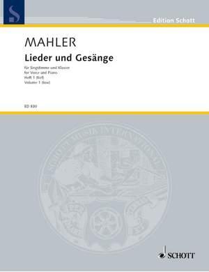 Mahler, G: Lieder und Gesänge Volume 1 (Low Voice)