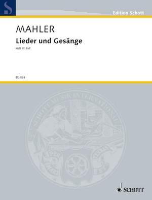 Mahler, G: Lieder und Gesänge Volume 3 (Low Voice)