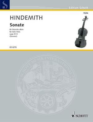 Hindemith, P: Viola Sonata op. 31/4