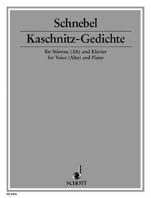 Schnebel, D: Kaschnitz-Gedichte