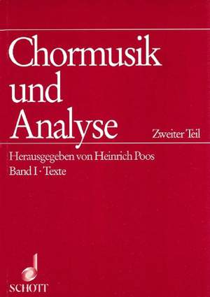 Chormusik und Analyse Teil 2 Product Image