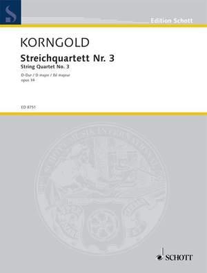 Korngold, E W: String Quartet No. 3 op. 34
