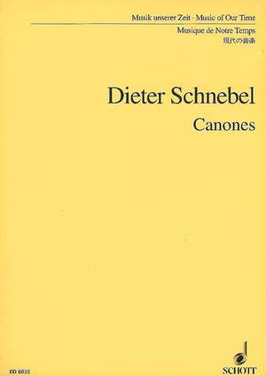 Schnebel, D: Canons