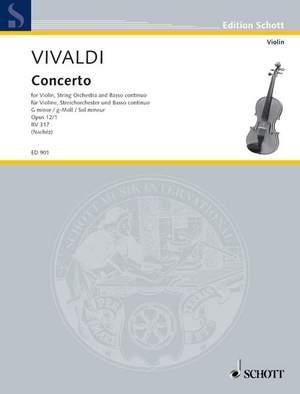Vivaldi, A: Concerto G Minor op. 12/1 RV 317 / PV 343