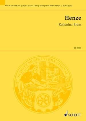 Henze, H W: Katharina Blum