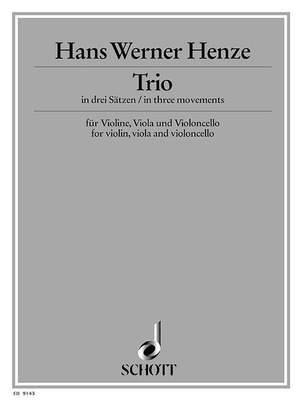 Henze, H W: Trio