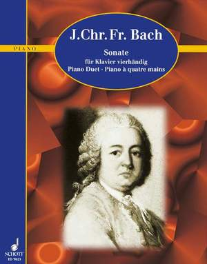 Bach, J C F: Sonata A Major