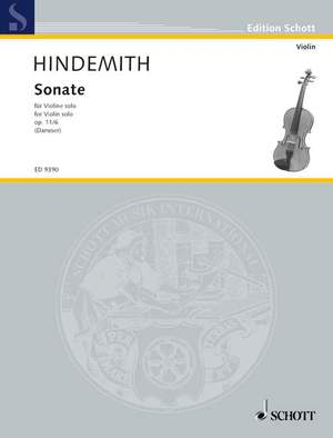 Hindemith, P: Violin Sonata op. 11/6