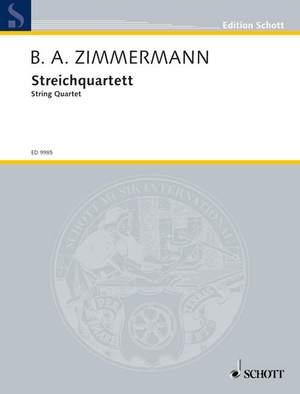 Zimmermann, B A: String Quartet