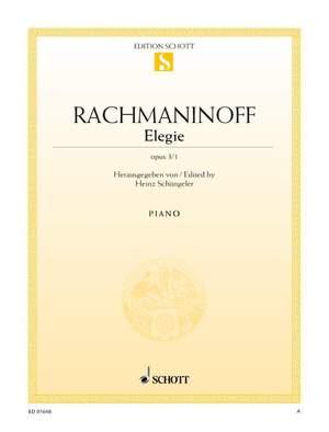 Rachmaninoff, S: Elegie op. 3/1