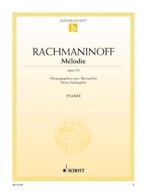 Rachmaninoff, S: Mélodie op. 3/3