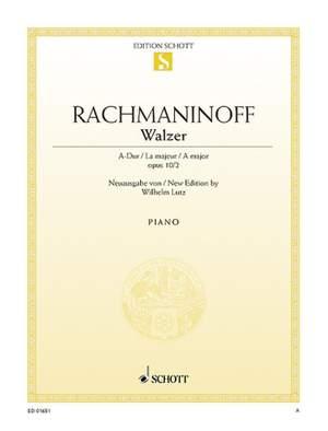 Rachmaninoff, S: Waltz A Major op. 10/2 Product Image