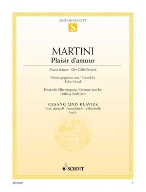 Martini, J P E: Plaisir d'amour G minor Product Image