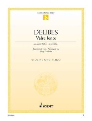 Delibes, L: Valse lente