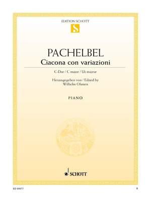 Pachelbel, J: Ciacona con variazioni C major
