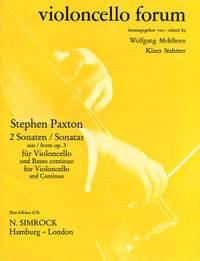 Stephen Paxton: Two Sonatas Op. 3