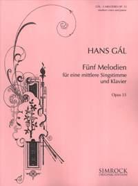 Hans Gál: Five Songs, Op. 33