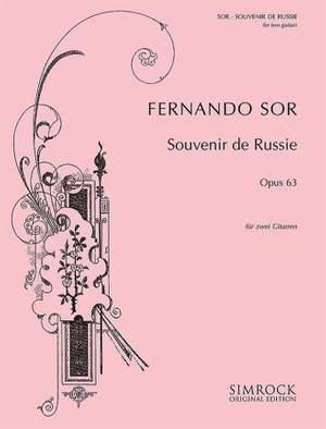 Sor, F: Souvenir de Russie in Em op. 63