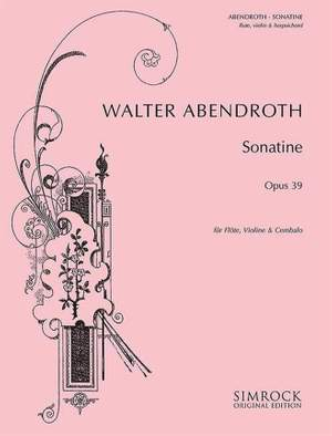 Abendroth, W: Sonatina op. 39