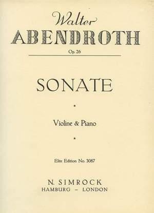 Abendroth, W: Sonata op. 26