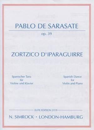 Sarasate: Zortzico d'Iparaguirre op. 39