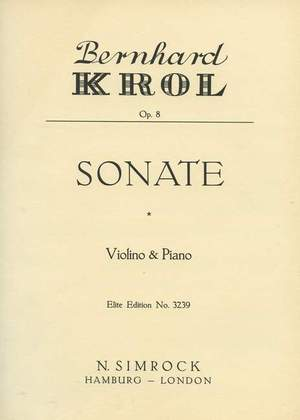 Krol, B: Sonata op. 8