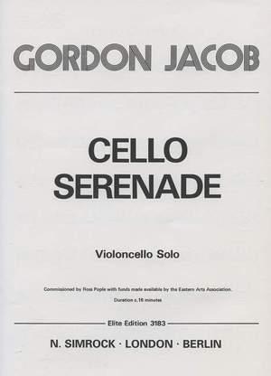 Jacob, G: Cello Serenade