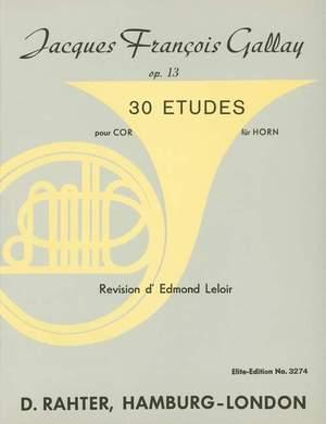 Gallay, J F: 30 Studies op. 13