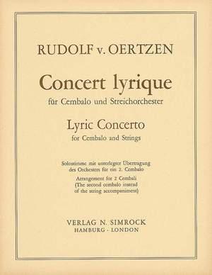 Oertzen, R v: Lyric Concerto op. 32