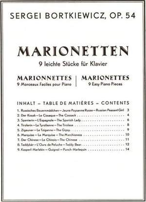Bortkiewicz, S: Marionettes op. 54